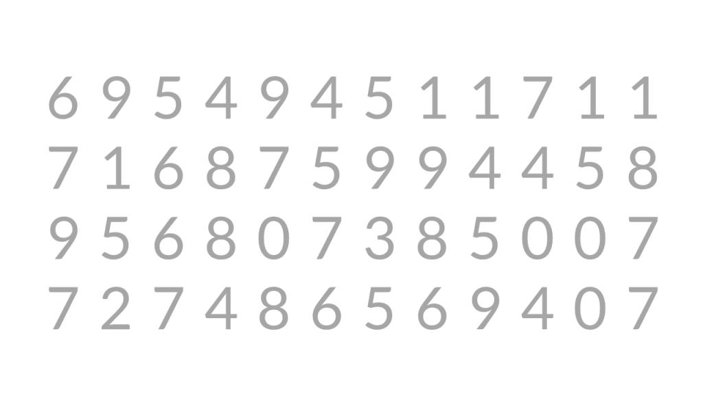 Numeroita rivissä